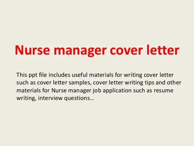 Cover Letter Nurse Recruiter