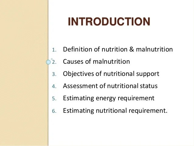 Nutrition in surgery