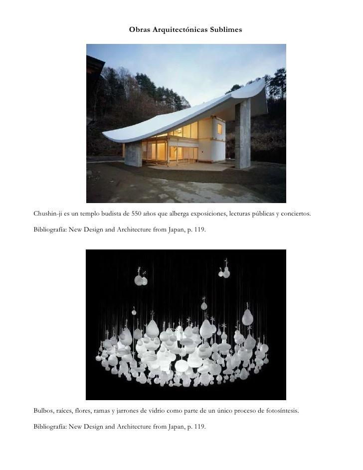 Obras arquitectnicas bellas y sublimes