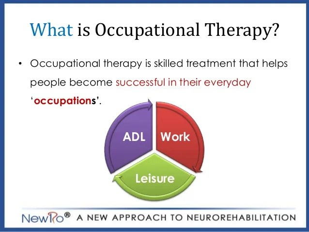 Occupational therapy in stroke rehabilitation