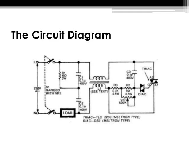 Light Dimmer Circuit Diagram Using Remote