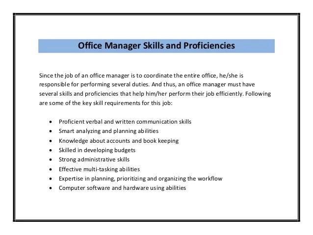 Office Manager Resume Sample Pdf
