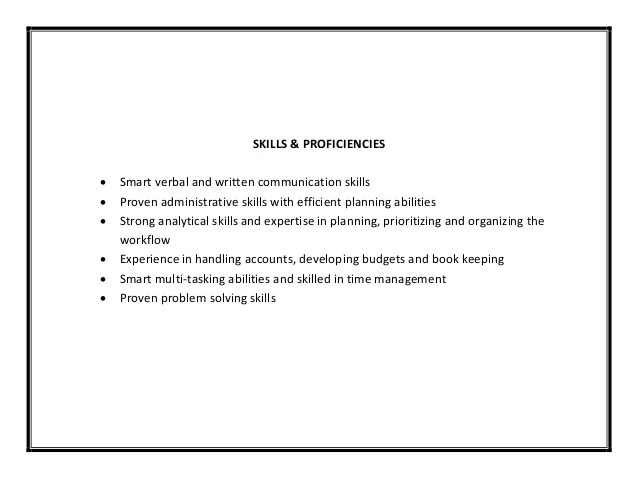 Resume Skills Example Skill Example For Resume Professional