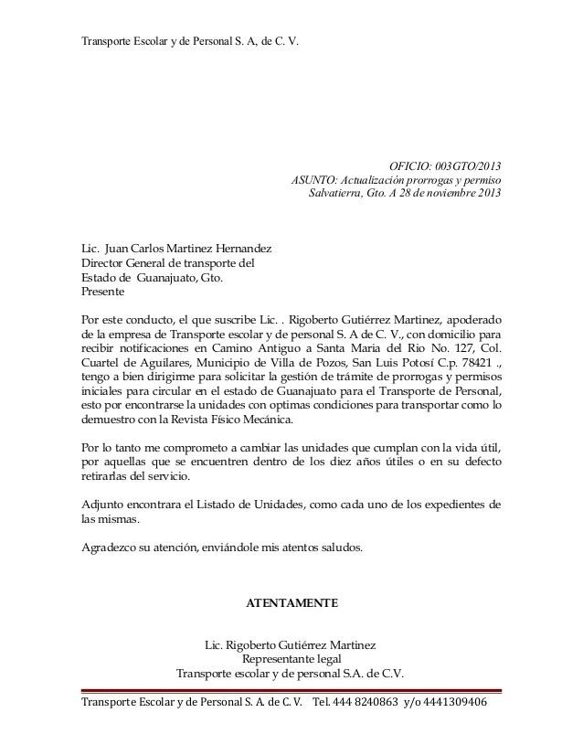 Oficio Delegacion Transito Gto San Luis Potosi