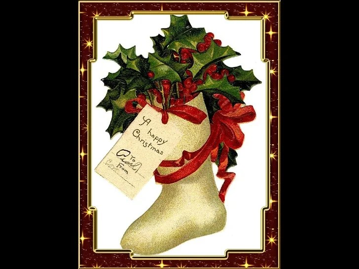 OLD FASHIONED CHRISTMAS CARDS 1
