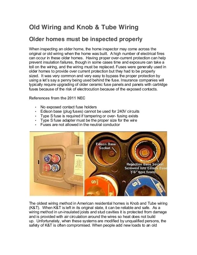 old home wiring types