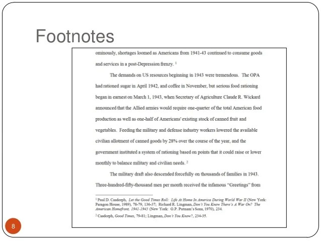 Example Of Essay With Footnotes Hospi Noiseworks Co