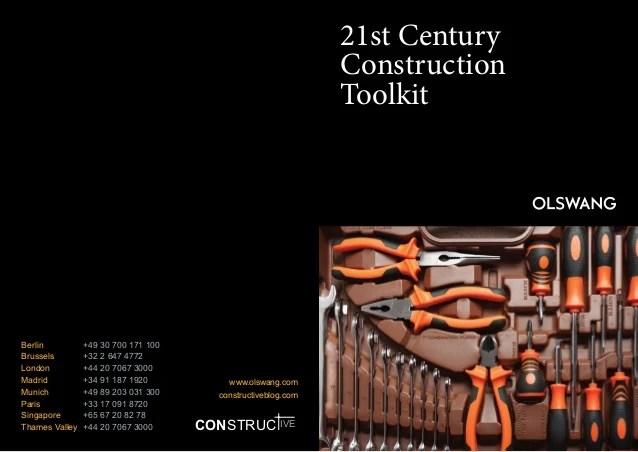 21st century construction toolkit