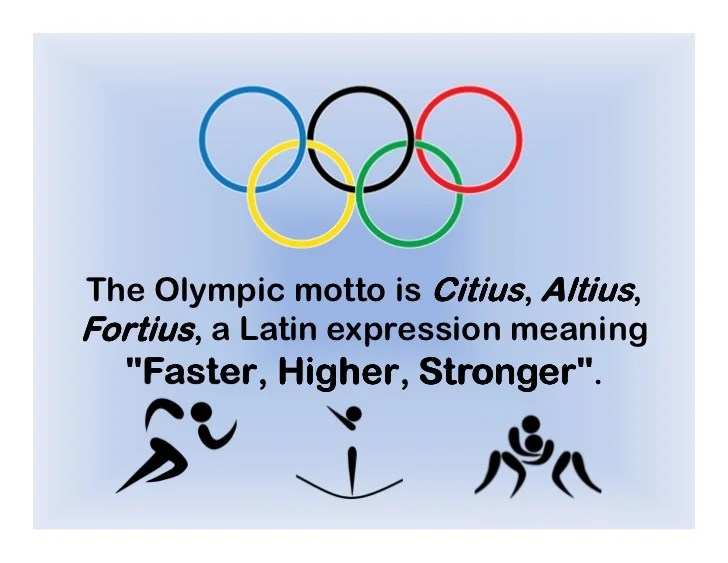 The Olympic Motto Is Citius