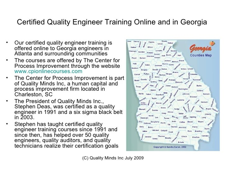 Certified Quality Engineer Training AtlantaGASix Sigma Training onl