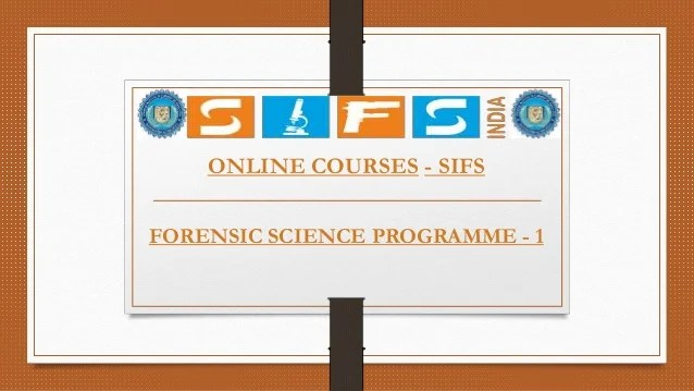 Online Forensic Courses