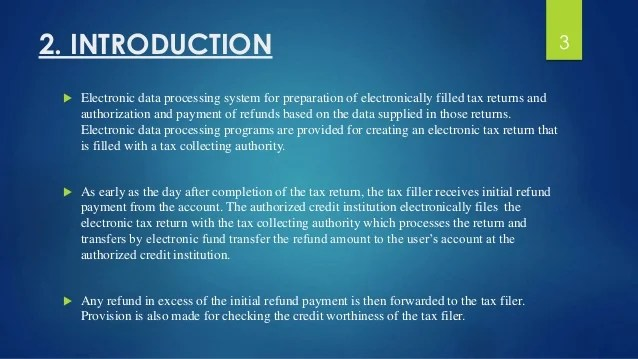Electronic Tax Return
