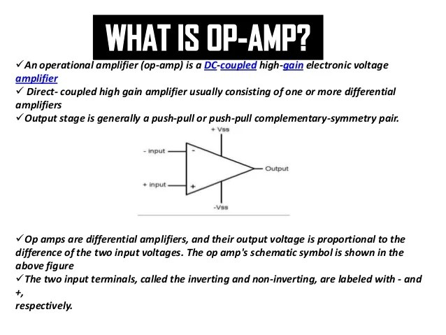 Dictionary Of Electronic And Engineering Terms Operational Amplifier