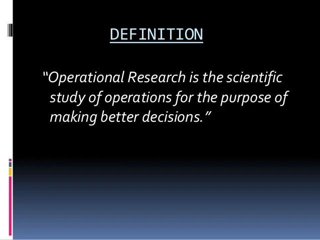 Operational reseach ppt