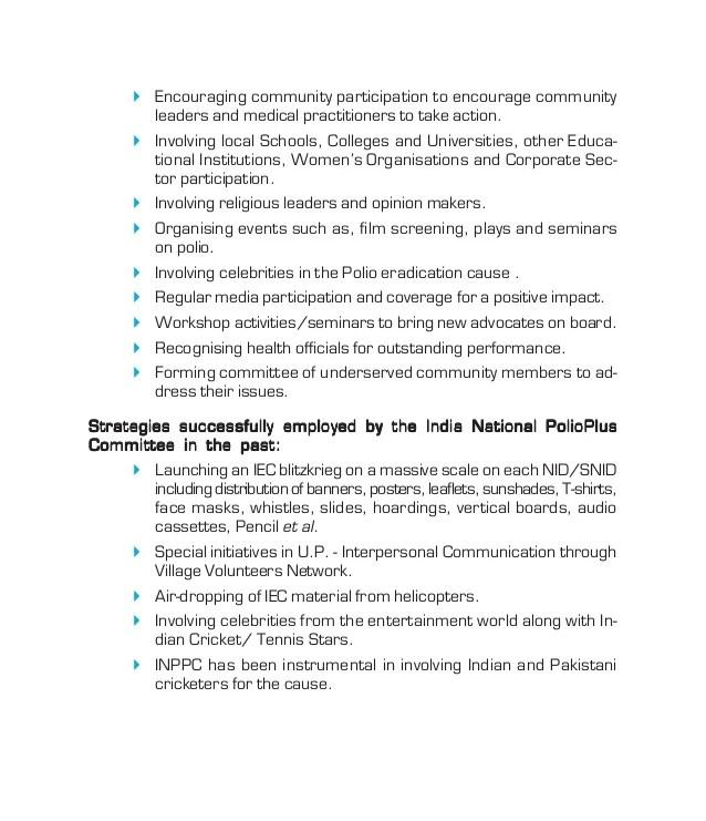 INDIA - POLIO ERADICATION FIGURES - Rotary International Operation ma…