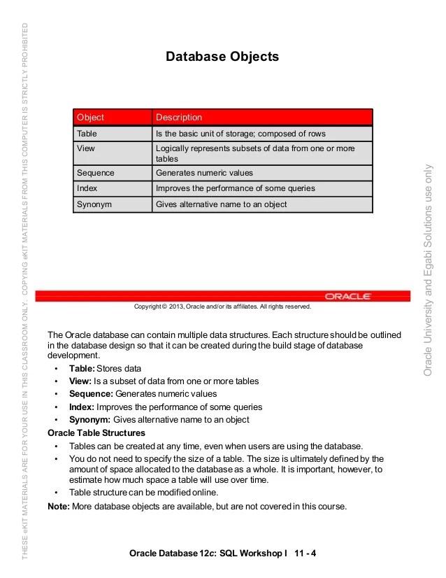 Oracle database 12c sql worshop 1 student guide vol 2