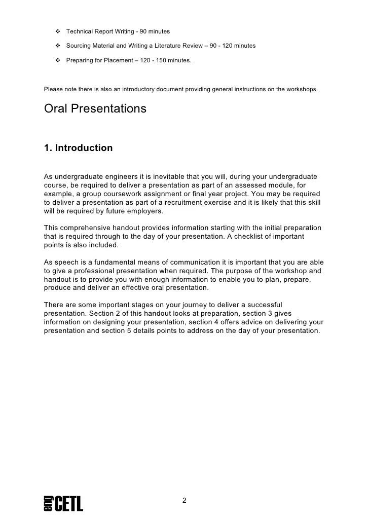 Oral Presentations Handout