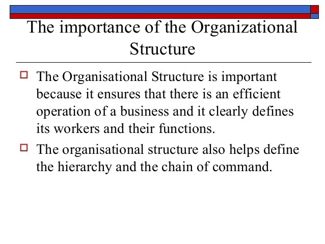 the importance of organizational also structure design rh slideshare