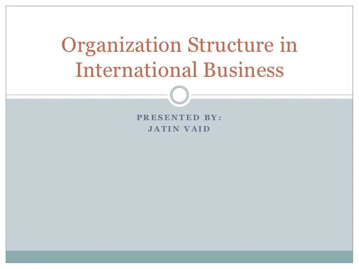 Organization structure in international business presented by also rh slideshare