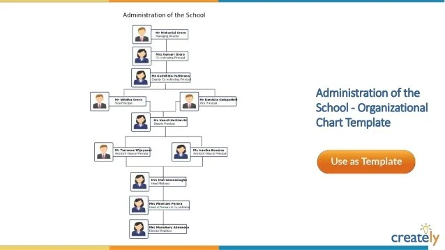 University organizational chart template also templates by creately rh slideshare