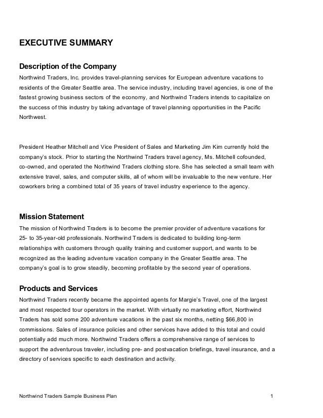 business description examples