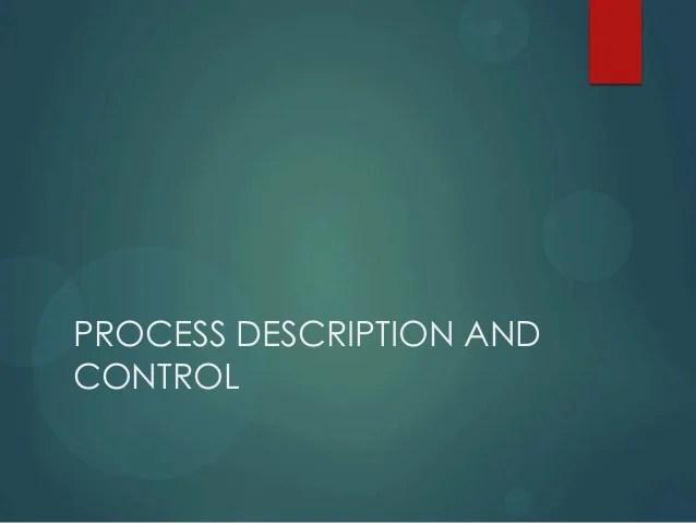 Processes Description And Process Control
