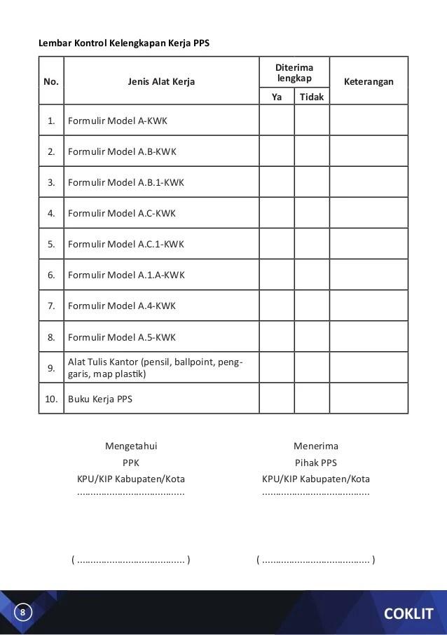 Jenis Formulir Dalam Pemilu 2019 Excel : jenis, formulir, dalam, pemilu, excel, Kerja, Mencoklit, PILKADA, Serentak