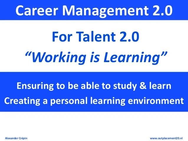 Workshop Talent 2.0, Career Management 2.0 & Outplacement 2.0 Explor…