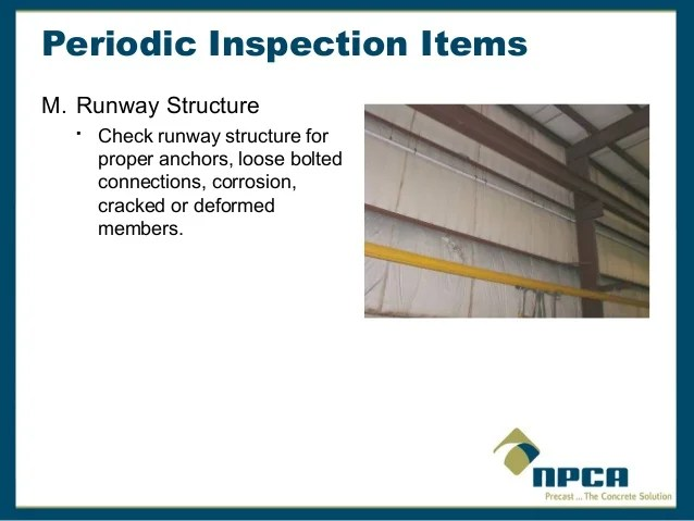 Overhead Crane Safety And Inspection Requirements - Resume