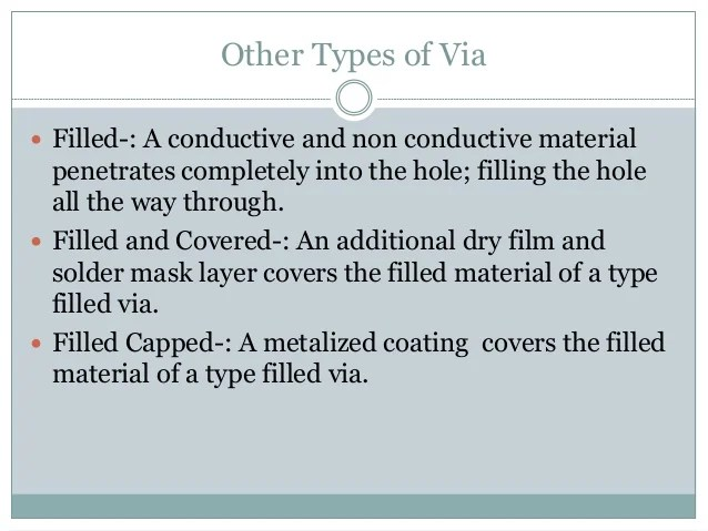 Overview of vias