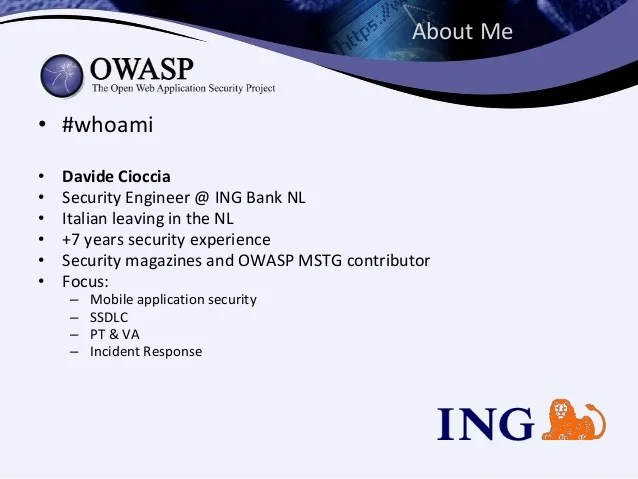 Mobile Security Owasp