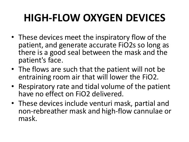 Partial Mask Concentration Oxygen Rebreather