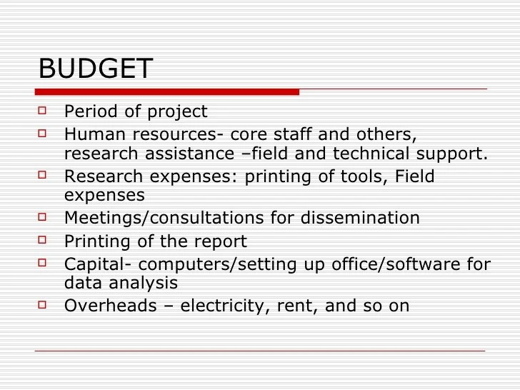 How To Write A Budget For A Research Proposal Help With Writing A