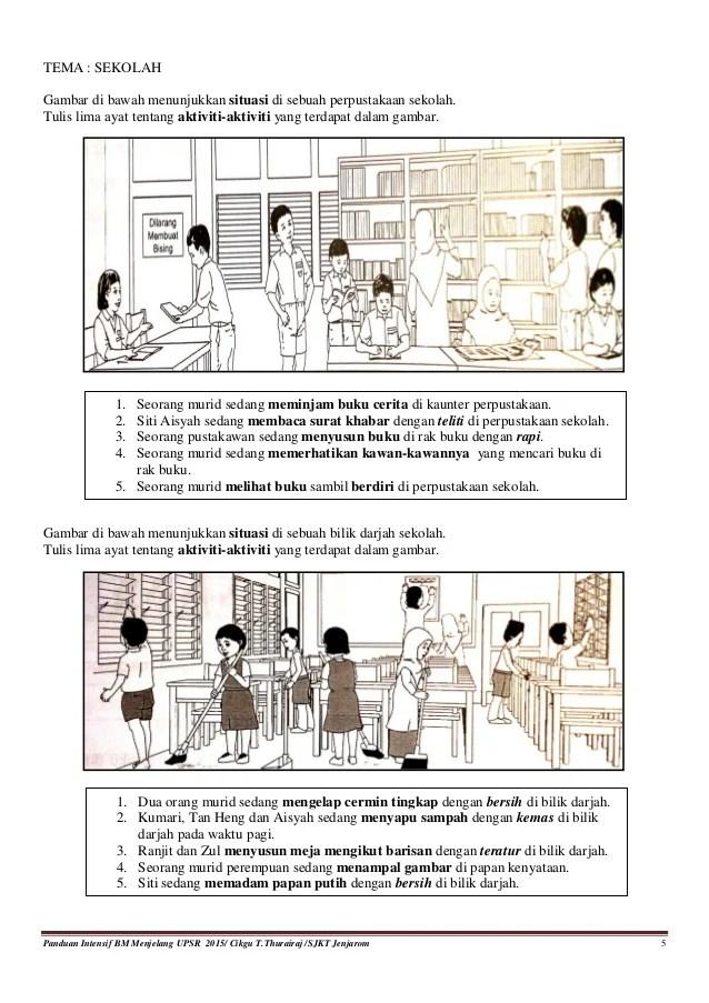 Panduan contoh gambar dan ayat bahagian a bahasa melayu
