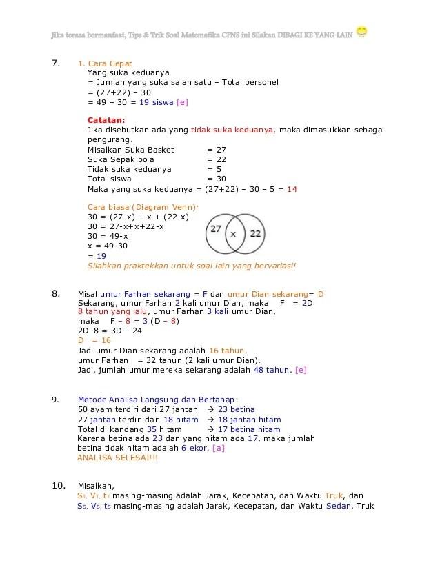 Contoh Soal Aritmatika Cpns : contoh, aritmatika, Panduan, Mengerjakan, Matematika