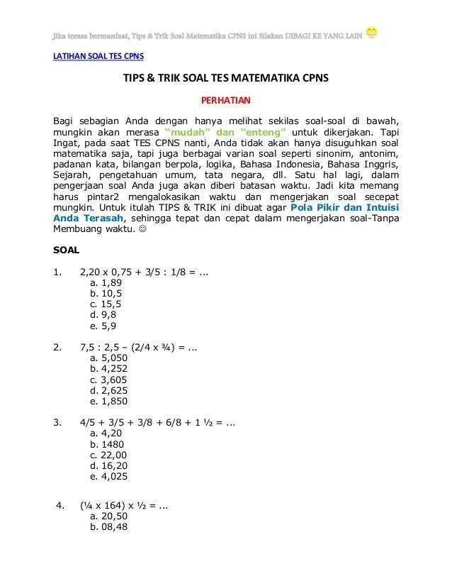 Cara Mengerjakan Soal Perbandingan dan Skala Matematika