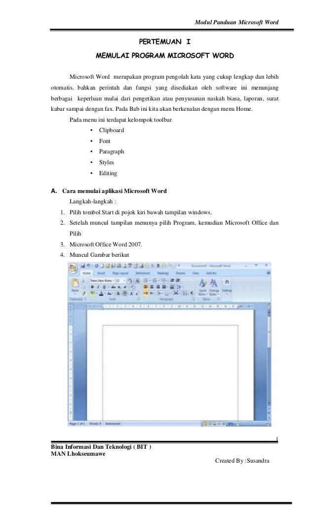 Microsoft Word Merupakan Aplikasi Pengolah : microsoft, merupakan, aplikasi, pengolah, Panduan, Microsoft, Word_20071