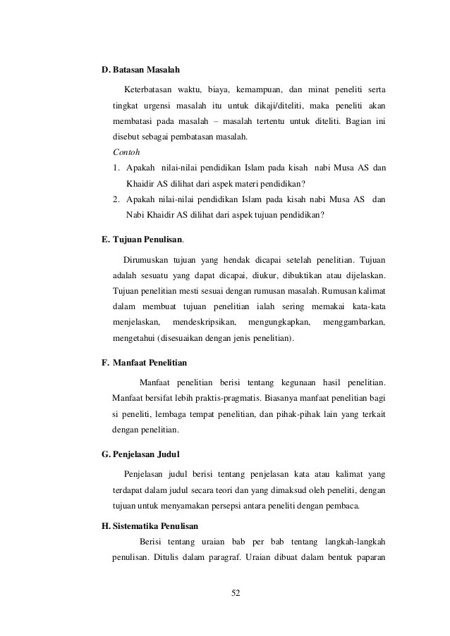 Contoh Batasan Masalah Dalam Makalah Aneka Contoh Cute766