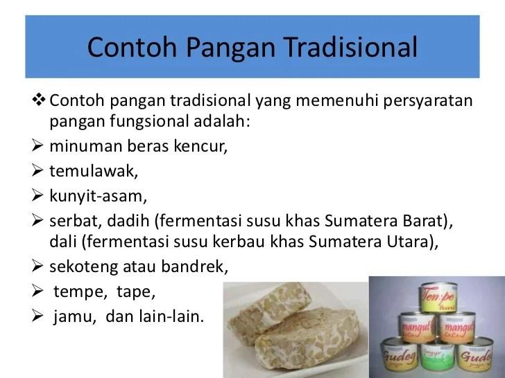 Makanan Fungsional Tradisional Adalah