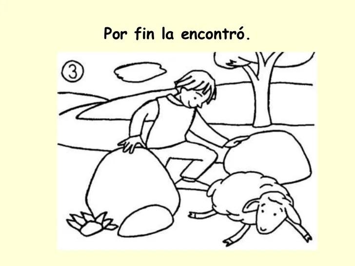 Parabola De La Oveja Perdida Para Colorear Dibujos