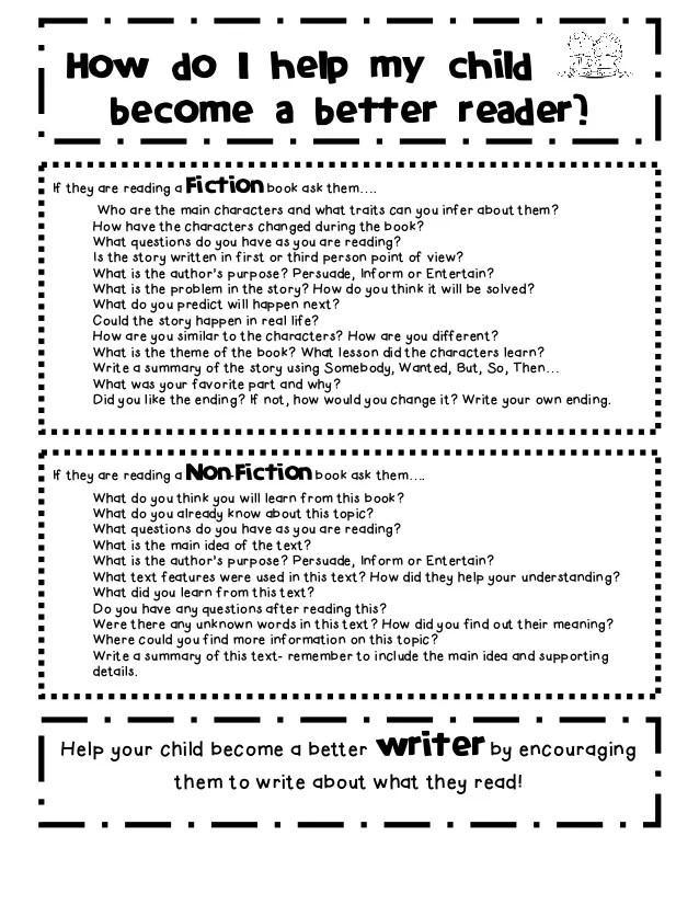 Parent reading tips