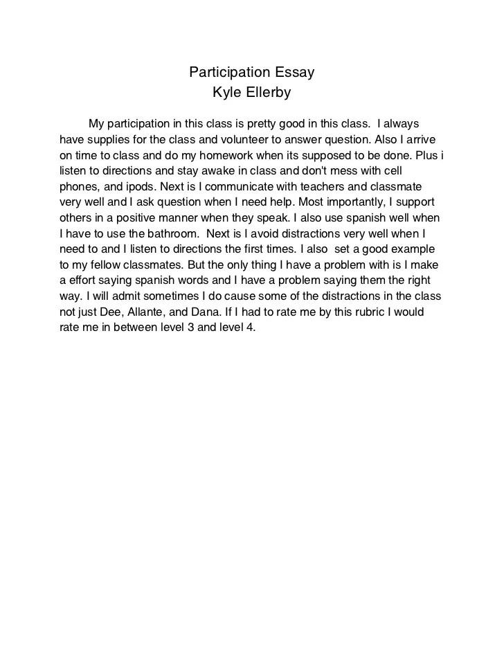 Participation Essay