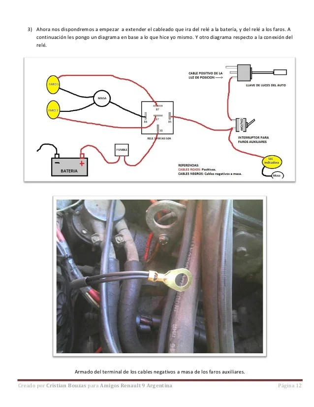 relay base wiring diagram leviton 3 way light switch paso a - instalación faros auxiliares (por cristian bouzas)