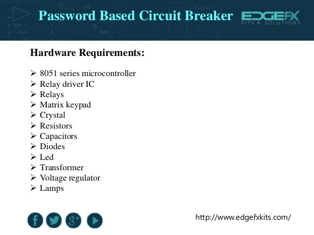 Password Based Circuit Breaker Project Circuit Working
