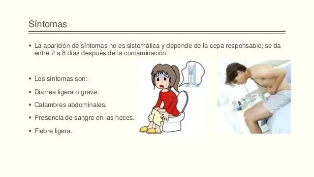 Patologia infecciosa, coli - Sintomas de