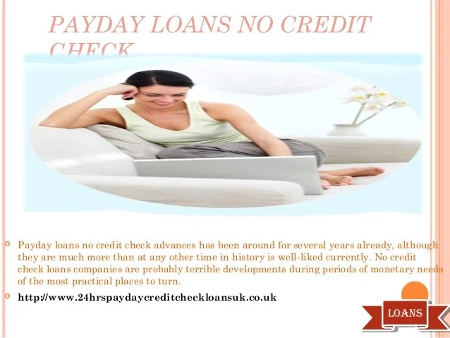 Payday Loans No Credit Check Cash Instant