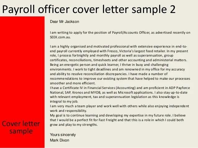 payroll officer resume sample