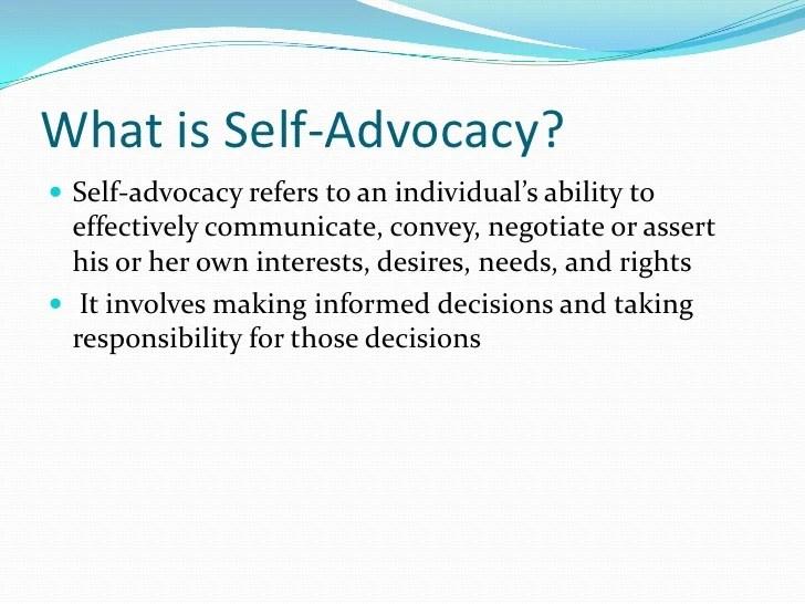 Self Advocacy Quotes Quotesgram