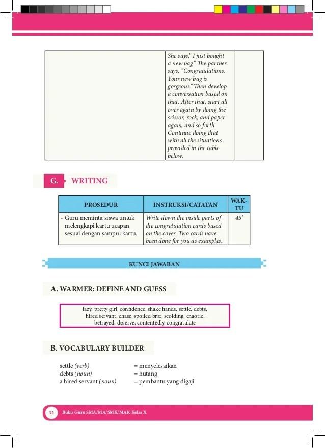 Kunci jawaban tema 4 kelas 3 halaman 16 17 buku siswa tematik k13 revisi buku buku pelajaran berkelas. Buku Bahasa Inggris Kelas X Kurikulum 2013 Kemendikbud Buku Guru
