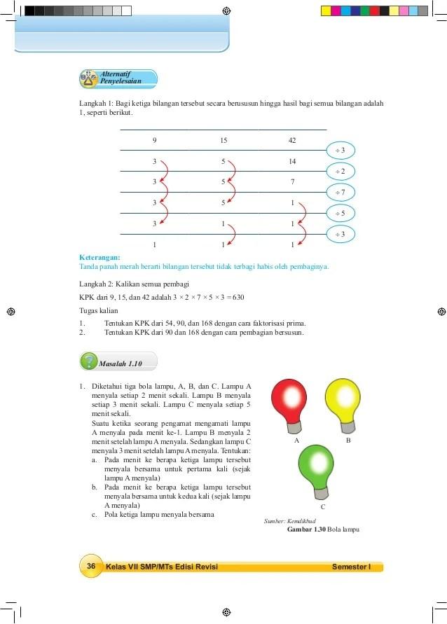 Tentukan Kpk Dari 90 Dan 168 Dengan Cara Pembagian Bersusun : tentukan, dengan, pembagian, bersusun, Matematika, SMP/MTs, Semester, Siswa